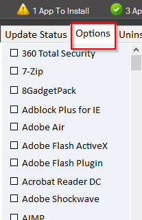 excluding apps from being updated using patch my pc