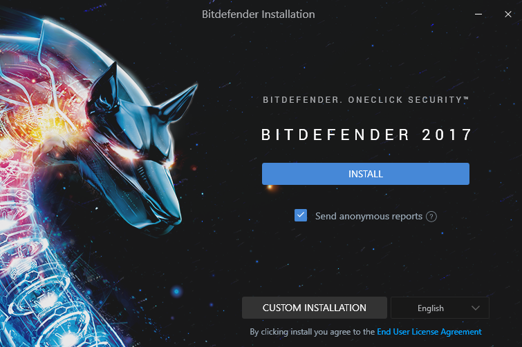 install screen of Bitdefender Internet Security 2017