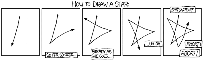drawing a star : funny
