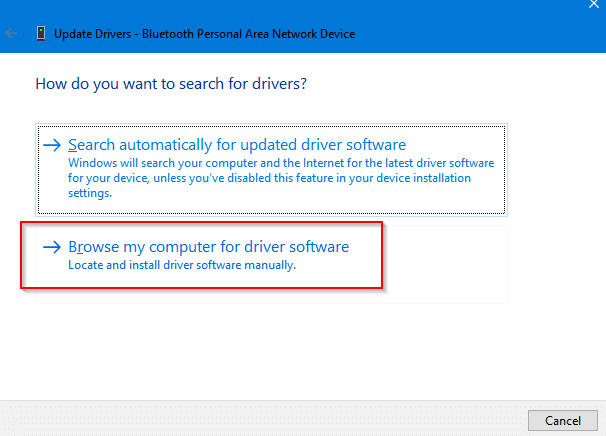 manually adding drivers for Windows 10 devices
