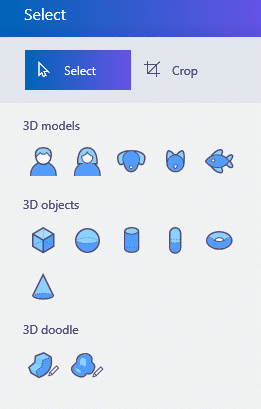 3d objects in paint 3d