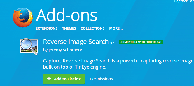 reverse image search add-on for firefox