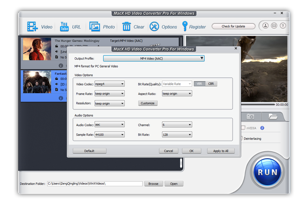 video conversion using macx hd video converter pro
