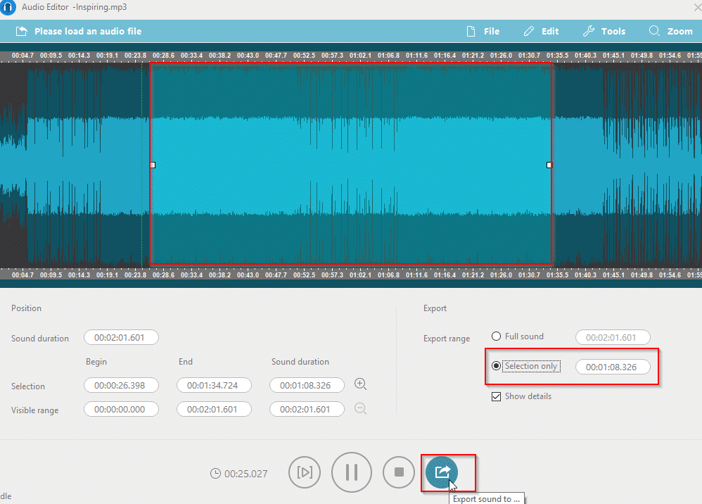 editing audio files in AceThinker