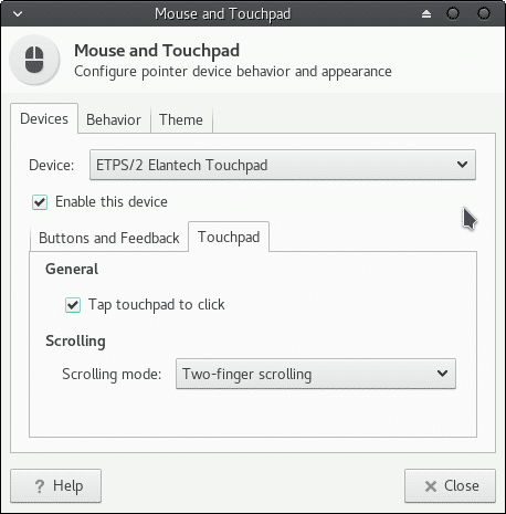 enable touchpad to clicks by tapping and also for scrolling