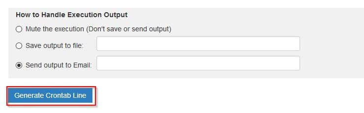 choosing output option for cron jobs