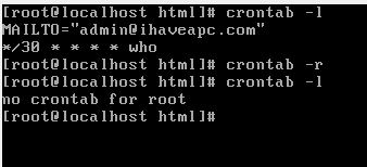 listing and deleting existing cron jobs in Linux from command line