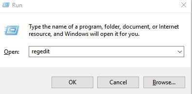 accessing registry editor in windows 10