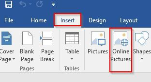 insert function in word