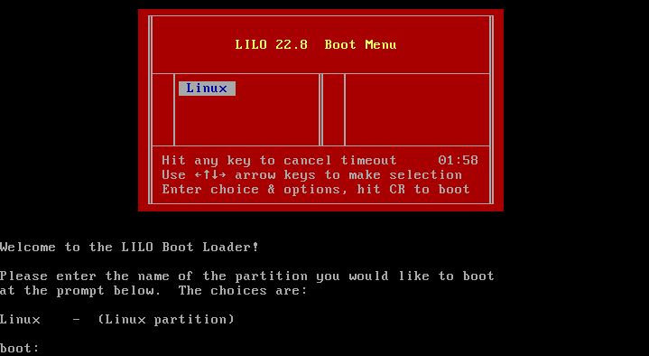 slackware boot screen