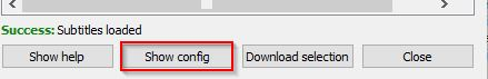 downloading subs and configuring settings