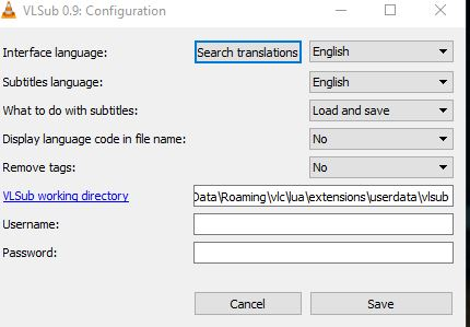 changing subtitles language in vlc player