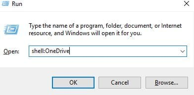 folder command to open OneDrive