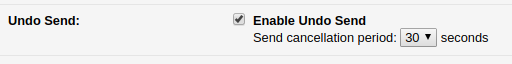 enabling undo send option in Gmail