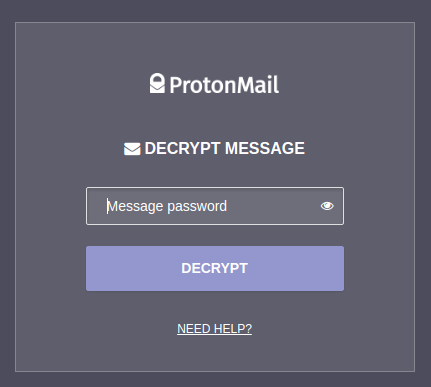 password for decrypting messages