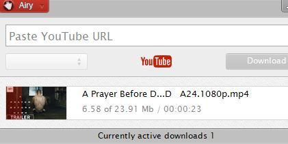youtube videos being downloaded using airy youtube downloader
