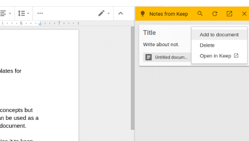 keeping a track of ideas in notepad and inserting them in google docs