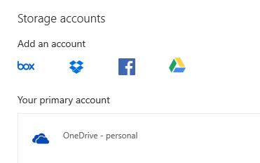 choosing Google Drive storage account for Outlook