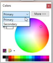 colors window and palette options in paint.net