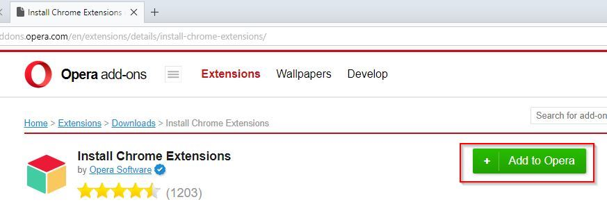 opera add-on that let's chrome extensions to be installed in opera