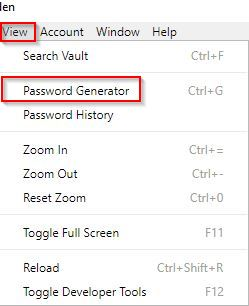 using the password generator in Bitwarden