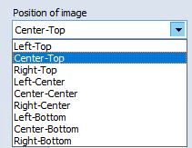 selecting image positioning in output PDF file