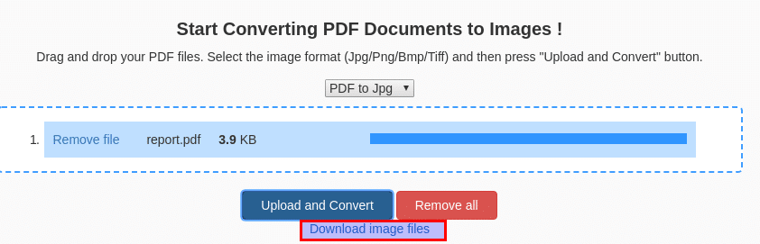 conversion from pdf to images is complete