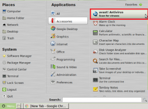 Starting Avast Linux Home Edition in Linux Mint / Ubuntu