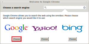 Google Chrome - Choose default search engine