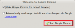 Making Google Chrome default browser
