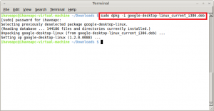 Installing the Google Desktop for Linux in Linux Mint / Ubuntu
