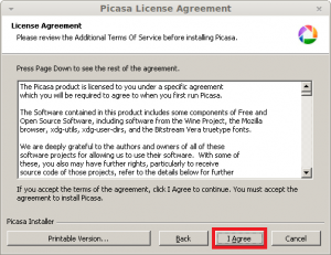 Google Picasa - Additional Terms of Service