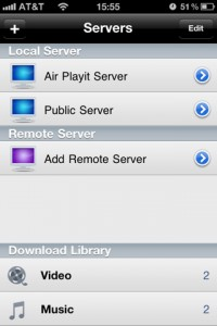 Accessing Air Playit servers from mobile devices
