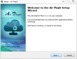 Air Playit server installation