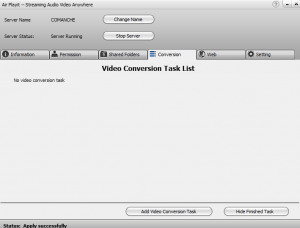 Video conversion editor in Air Playit