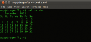 Calendar Listing From Terminal