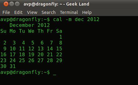 Terminal 5 Calendar.Quickly Find Out Calendar For Any Year Or Month Using Terminal In