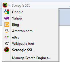 Installed Scroogle SSL Add-on In Firefox