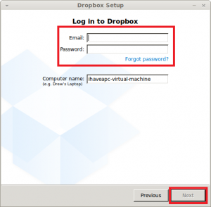 Dropbox Setup running in Linux Mint / Ubuntu