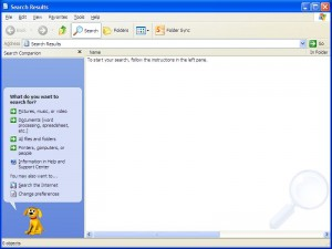 Classic Windows Search in Windows XP with Search Companion