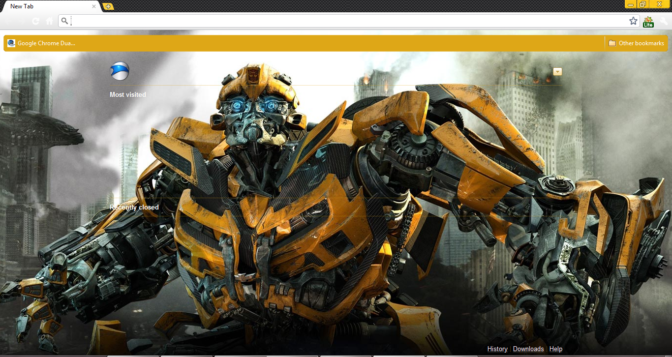 Google themes browser - Transformers 3 Theme For Google Chrome
