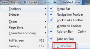 Customize toolbar for Click&Clean