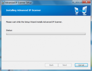 Advanced IP scanner installation