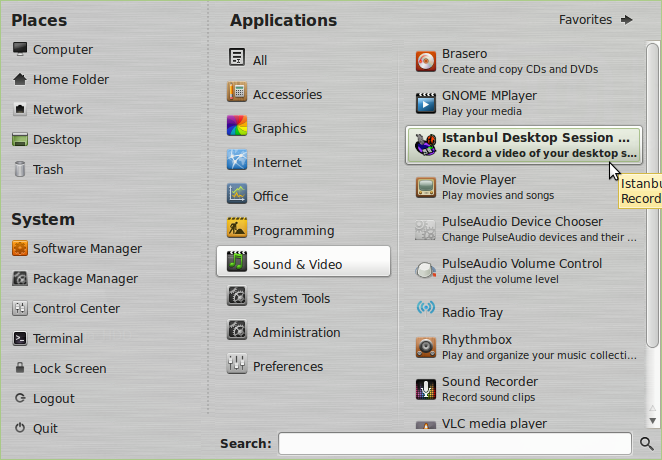 Istanbul : A Handy Desktop Session Recorder For Linux Mint