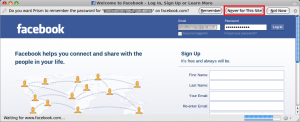 Logging in to Facebook with Prism-Facebook