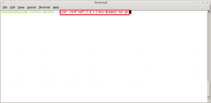 Extracting files from xVST_2_4_1-linux-dynamic.tar.gz in Linux Mint 11 / Ubuntu 11.04