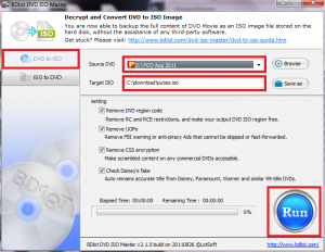 BDlot DVD ISO Master - Creating ISOs from encrypted / protected DVD