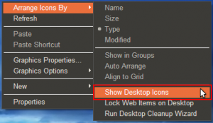 Ubuntu Skin Pack 4.0 for Windows XP SP3 - hiding desktop icons