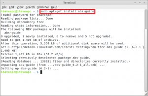 Installing abs-guide in Linux Mint / Ubuntu