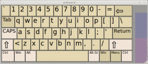 on-screen keyboard in Linux Mint / Ubuntu